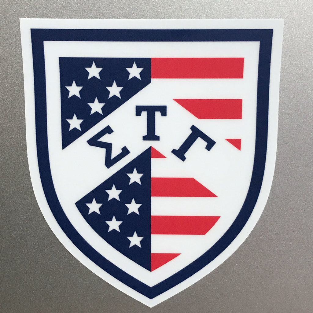 American Flag Shield Sticker