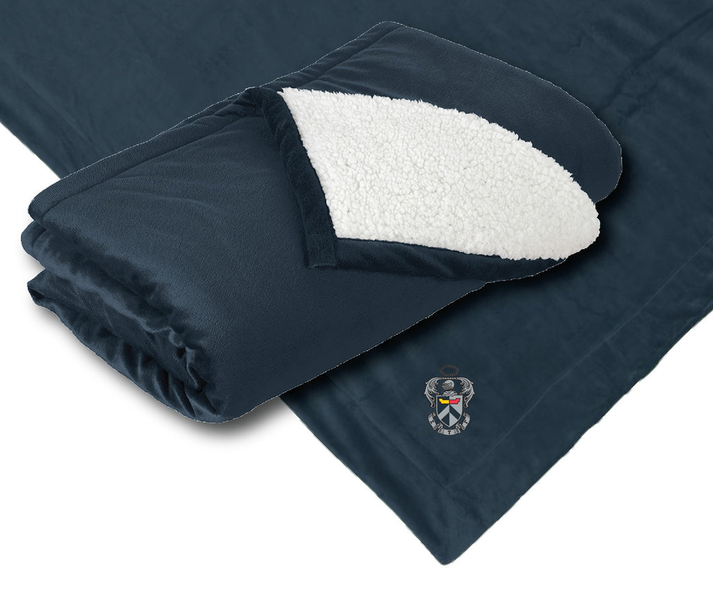 Embroidered Sherpa Blanket – Sig Tau Marketplace bab0a7863