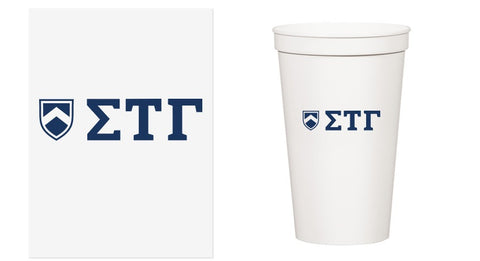 22 oz. Greek Letter Stadium Cups