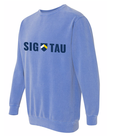 Retro Sig Tau Comfort Colors Sweatshirt