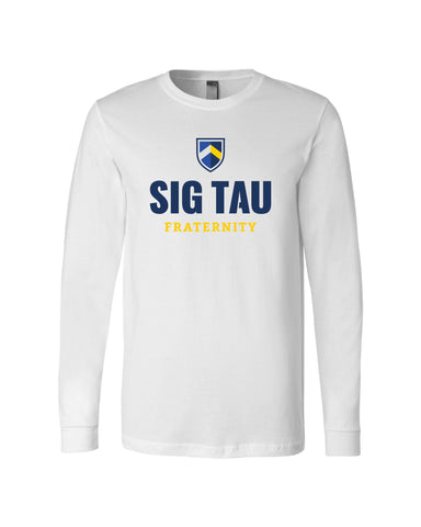 Sig Tau Fraternity Long Sleeve T-Shirt