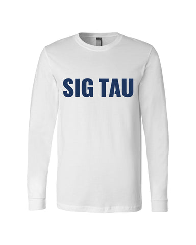 Sig Tau Shield Long Sleeve T-Shirt