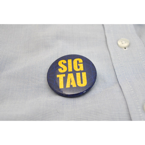 "1.5"" Yellow Sig Tau Button"