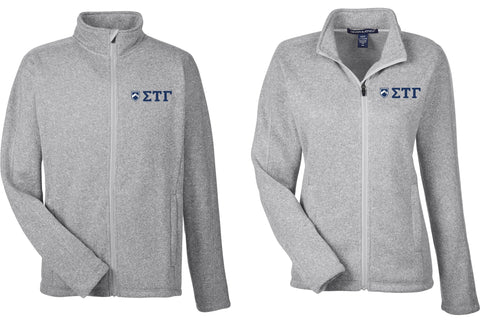 Full Zip Jacket with Greek Letters