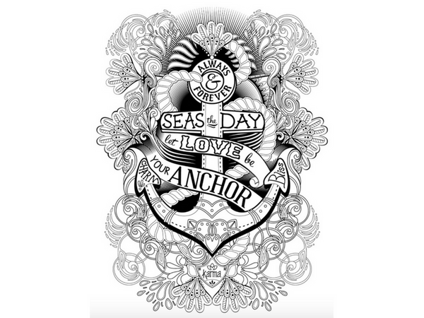 seas the day nautical printable coloring page