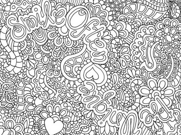 5 Awesome Printable Coloring Pages for Adults | Creatively Calm ... | 450x600