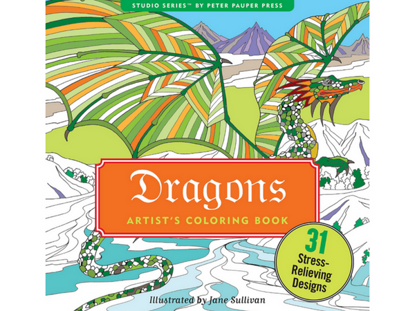 The Best Dragon Coloring Books for Adults | Creatively Calm Studios