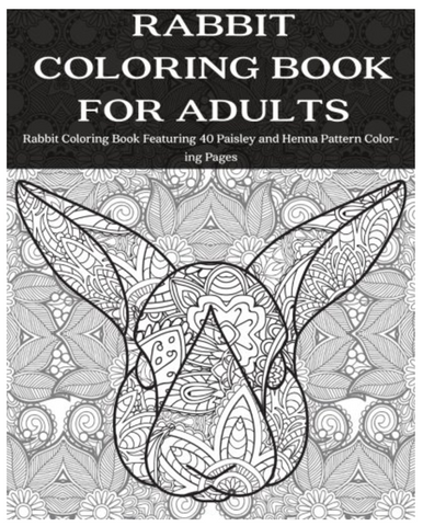 rabbit-adult-coloring-book-pages