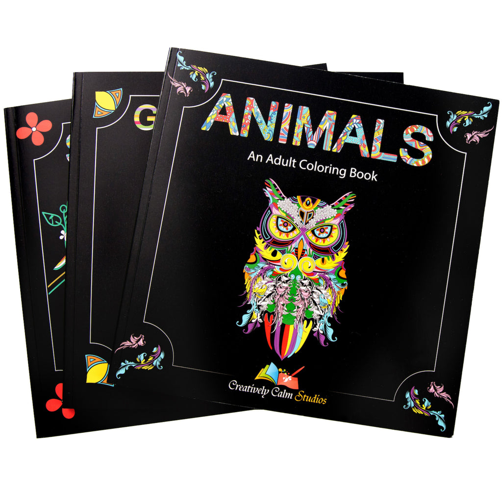 adult coloring books animals geometric shapes with mandala designs and scenery
