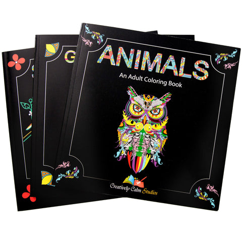Bundle of All THREE Of Our Adult Coloring Book Sets (9 Total Books)