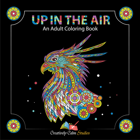 Adult Coloring Book Set - Into the Jungle, Under the Sea, Up in the Air