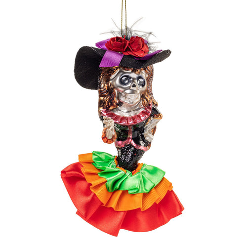 Day of the Dead Girl w/ Hat Ornament