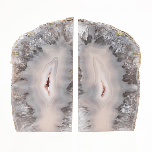 Real Natural Agate Rock Bookends