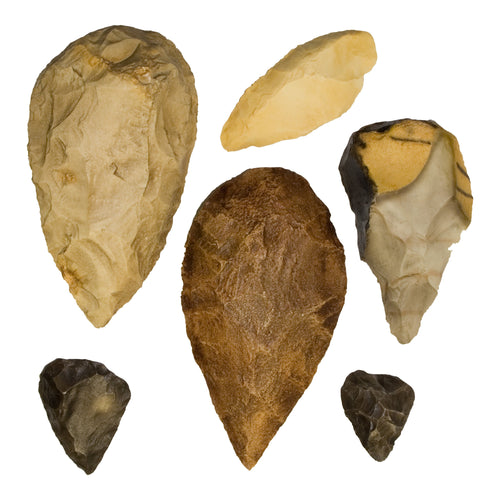 Replica Fossil Hominid Tools Set of 6
