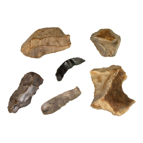 Replica Set of 6 Neanderthal Mousterian Industry Tools