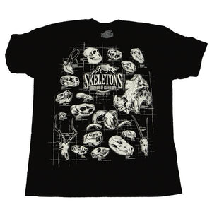 SKELETONS: Museum of Osteology Shirt - Classic Skulls Design