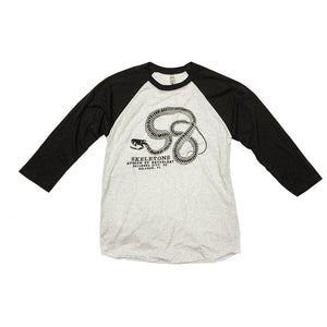 SKELETONS: Museum of Osteology Shirt - Snake Baseball Tee