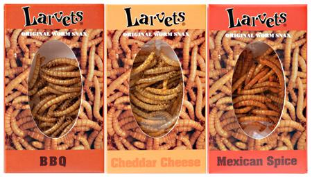 Real Flavored Larvets Worm Snack