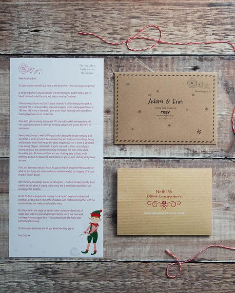 Third Edition Personalised Advent Letters (2019) Elf Letters
