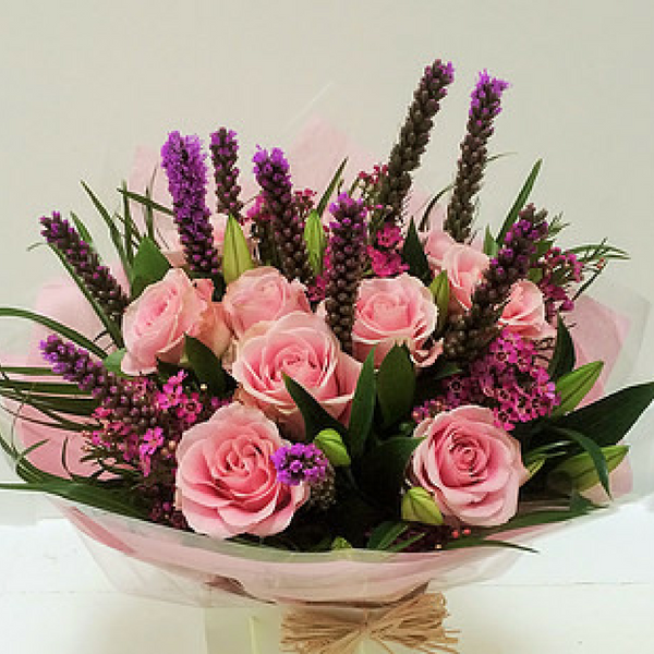 Toller - Pink Rose and Lily Gift Bouquet