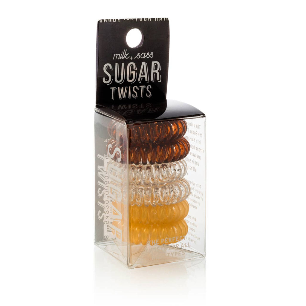 MILK+SASS - SUGAR TWISTS coil hair ties caramel toffee