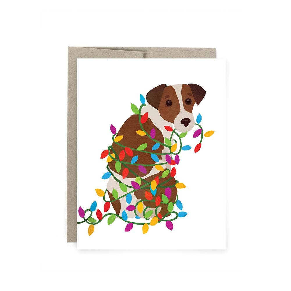 Art of Melodious - Terrier Lights Holiday Card