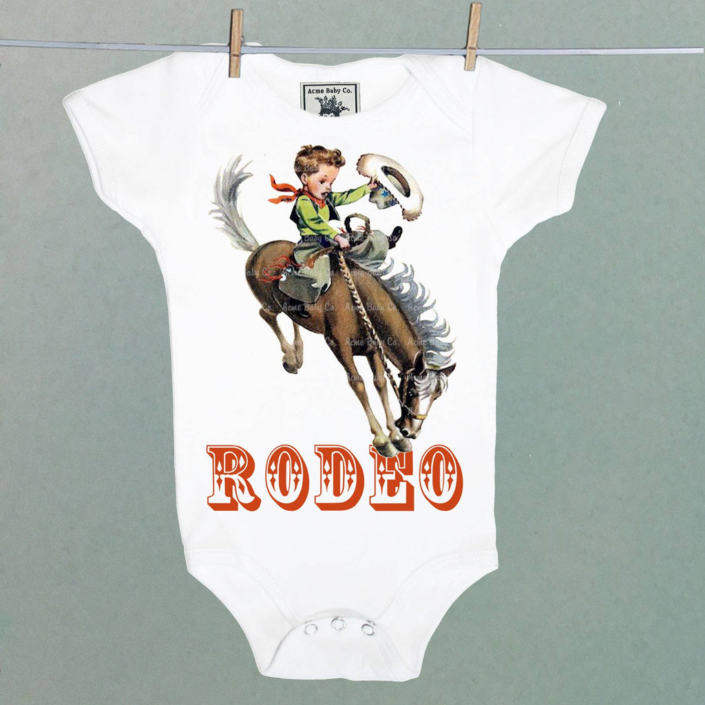 Acme Baby Co. - Rodeo Cowboy Organic Bodysuit