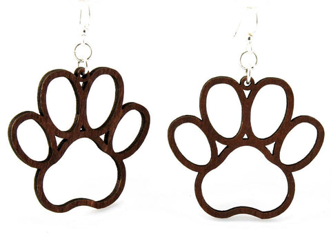 Green Tree Jewelry - Dog Paw Earrings