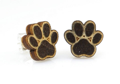 Green Tree Jewelry - Puppy Paw Stud Earrings
