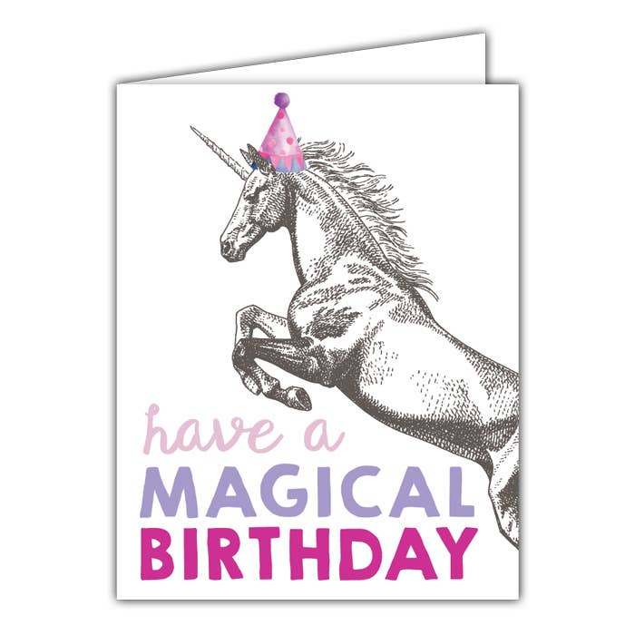 RosanneBeck Collections - Have a Magical Birthday Small Folded Greeting Card