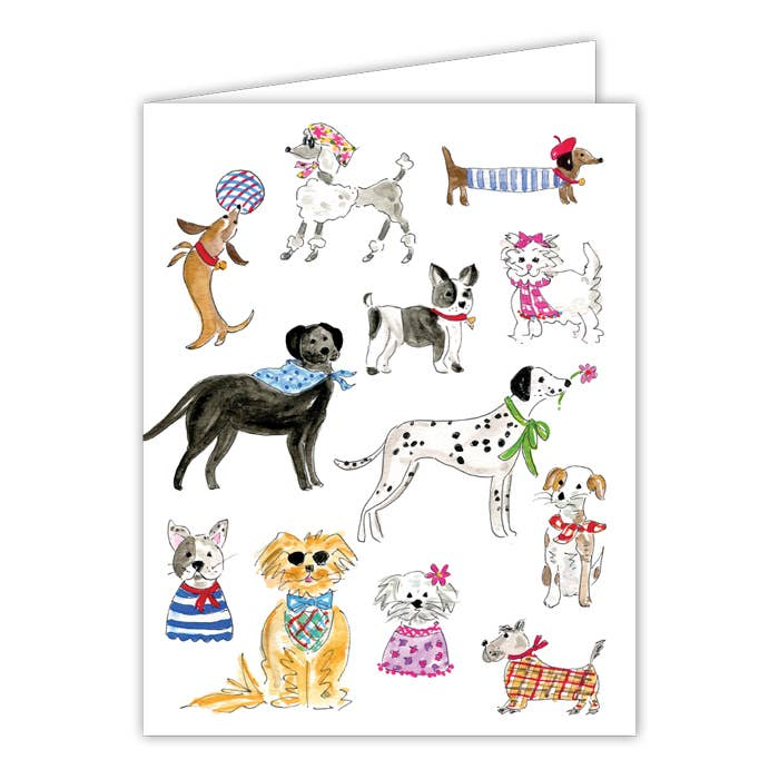 RosanneBeck Collections - Dapper Dogs Small Folded Greeting Card