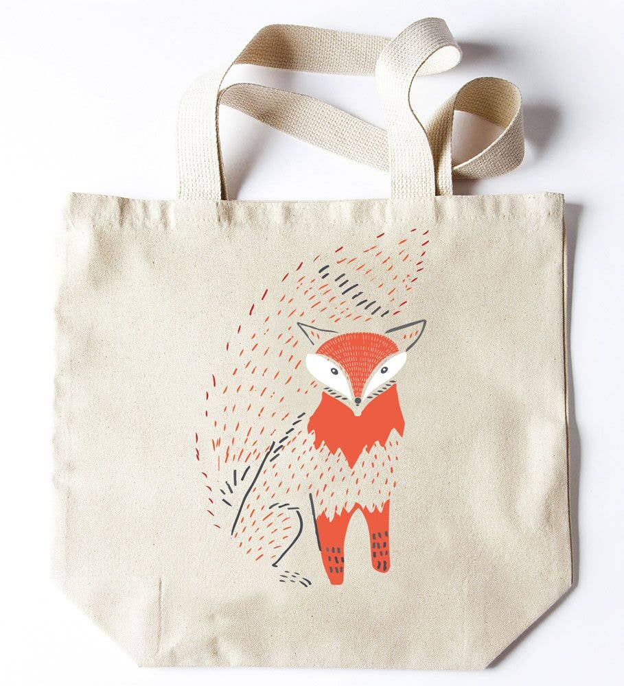 Potluck Press - Fox Bushy Tail Tote