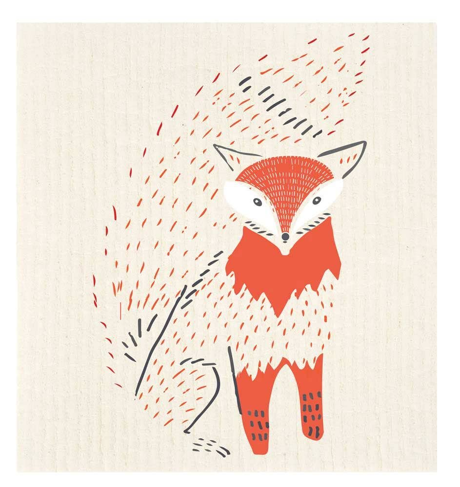 Fox Bushy Tail Swedish Dishcloth
