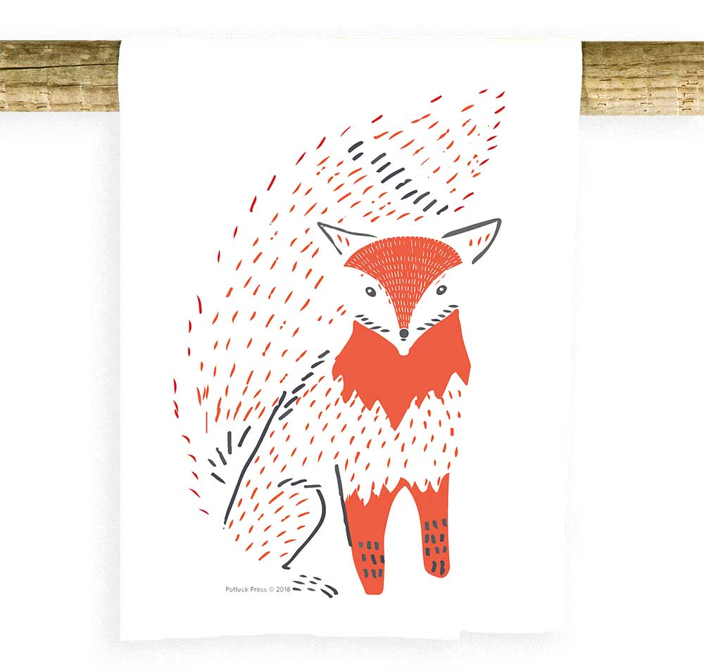 Fox Bushy Tail Towel