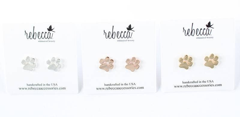 Rebecca Accessories - Paw Print Post Earrings