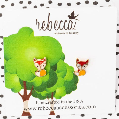 Rebecca Accessories - Fox Earrings