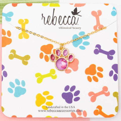 Rebecca Accessories - Paw Print Necklace