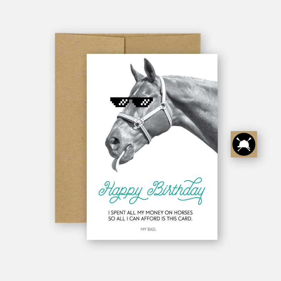 Hunt Seat Paper Co. - HBD - My Bad (Equestrian)