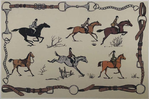 Ox Bow Decor - Equestrian Medley Placemat Pad