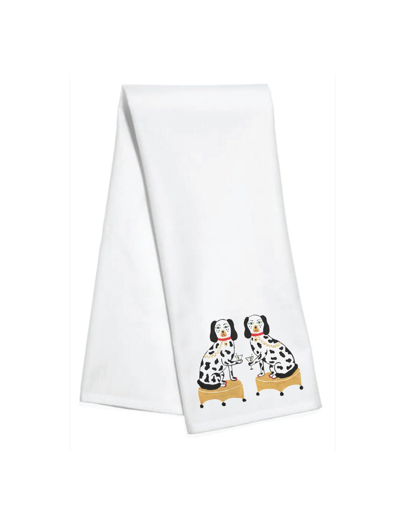 Toss Designs - Kitchen Towels: Nip & Tuck by Willa Heart