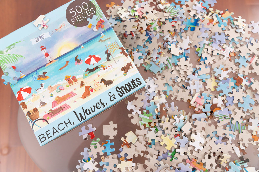 SASSY WOOF - 'Beach, Waves, & Snouts' Puzzle