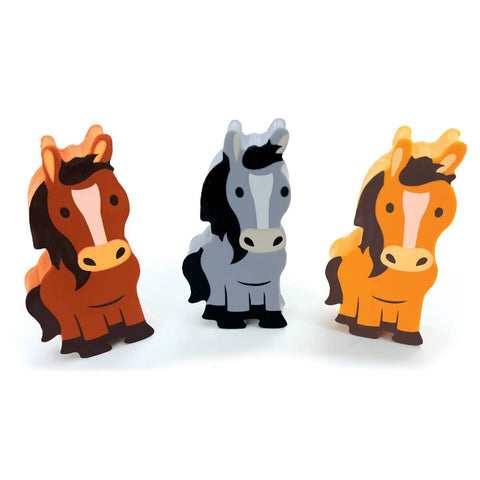 The Piggy Story - Eraser Set- Horse