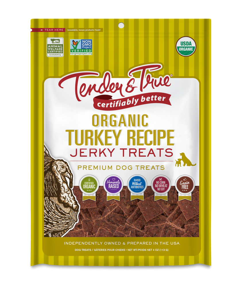 Tender & True Pet Nutrition - Organic Turkey Recipe Jerky