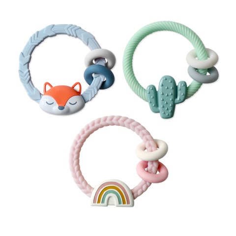 Itzy Ritzy - Ritzy Rattle™ Silicone Teether Rattles