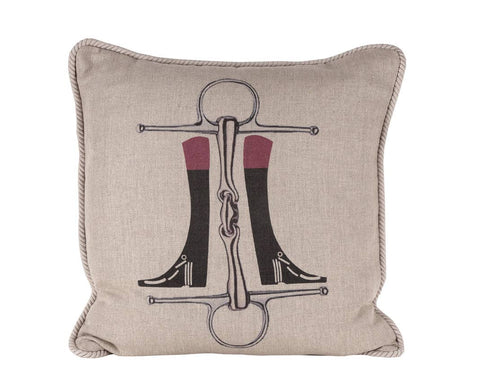 Ox Bow Decor - Boots N Bit Equestrian Pillow