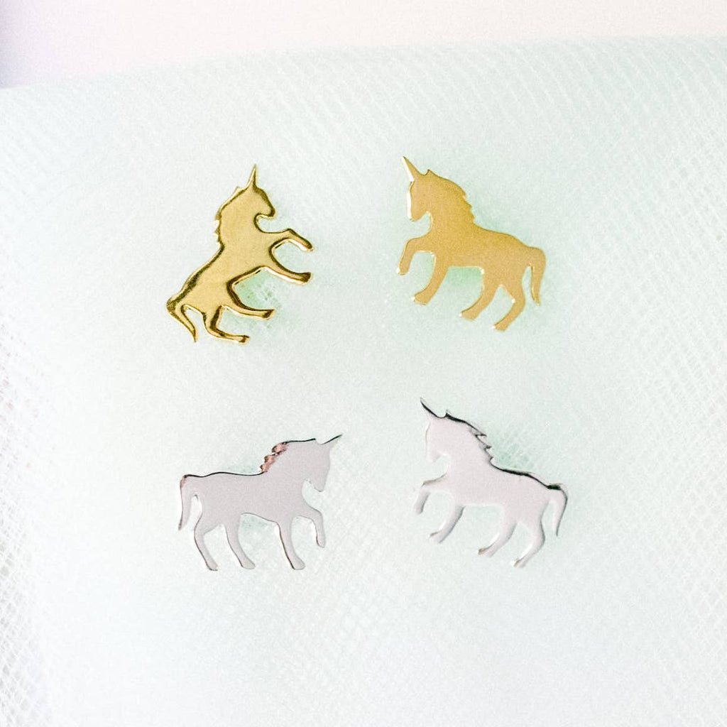 Rebecca Accessories - Unicorn Post Earrings