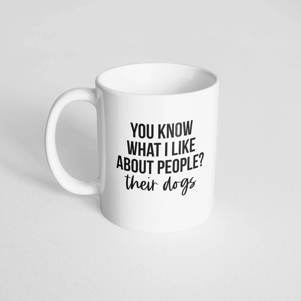 The Dapper Paw - What I Like About People Mug