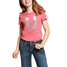 Ariat - Girls Sequin shoe tee