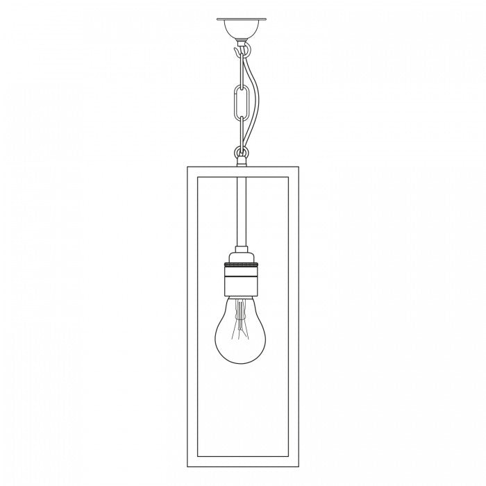 Narrow Box Pendant Light 7650 - Original BTC Australia
