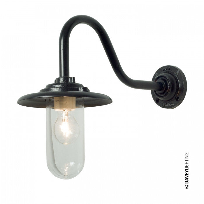 Exterior Bracket Light, 60W, Swan Neck 7677 - Original BTC Australia